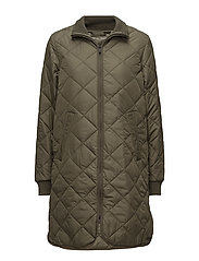 PADDED QUILT COAT - 410 ARMY