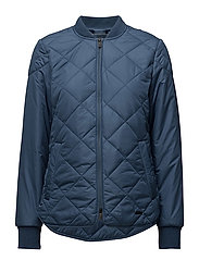PADDED QUILT JACKET - 691 BLUE ROCK