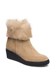 ANKLE BOOT W./FUR - OTTER