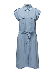 DRESS W BELT - BLUEBELL