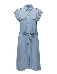 DRESS W BELT - BLUEBELL