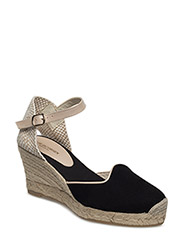 ESPADRILLE WEDGE - BLACK