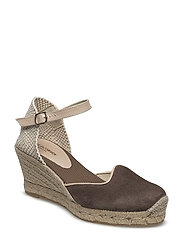ESPADRILLE WEDGE - CHOCOLATE