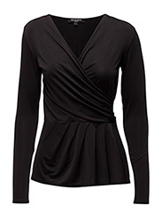 DRAPY BLOUSE - BLACK
