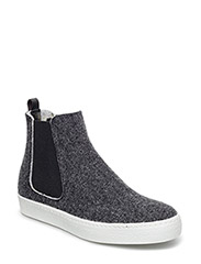 HIGH TOP FELT SNEAKER - GREY