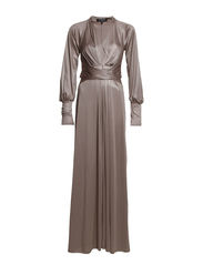 Dress Long/ long Sleeves - Metallic Nougat