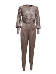 Jumpsuit long sleeves - Metallic Nougat