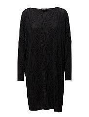 WIDE DRESS - BLACK