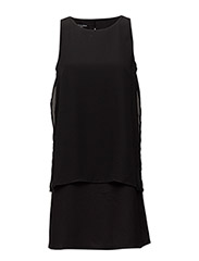 WOMENS DOUBLE LAYER DRESS - BLACK