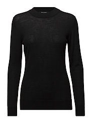 MOCK NECK PULLOVER - BLACK