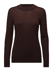 MOCK NECK PULLOVER - BROWNIE