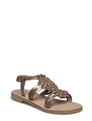 LEATHER SANDAL - SESAME