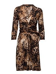WOMENS KNEE LENGTH DRESS - CHAMPAGNE