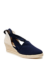 ESPADRILLE WITH WEDGE HEEL - INDIGO