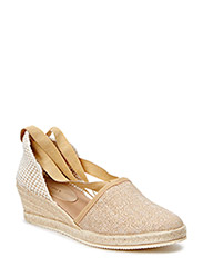 ESPADRILLE WITH HGH HEEL - SAND