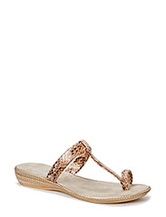 SANDAL WITH LOW HEEL - SAND
