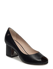 PEEP TOE - BLACK