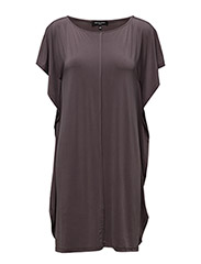 WOMENS OVERSIZED DRESS - PRUNE
