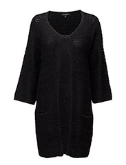 WOMENS LONG KNIT CARDIGAN - BLACK