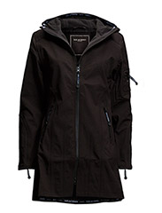 HIP-LENGTH SOFTSHELL RAINCOAT - Black