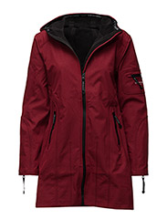 HIP-LENGTH SOFTSHELL RAINCOAT - RED