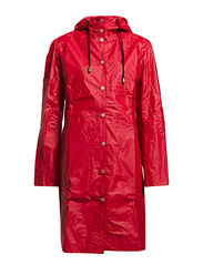 CLASSIC RAINCOAT WITH MATCHING HAT. - Red