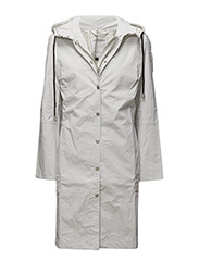 CLASSIC RAINCOAT WITH MATCHING HAT. - WHITE