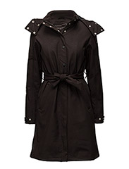 WOMEN RAINCOAT - BLACK