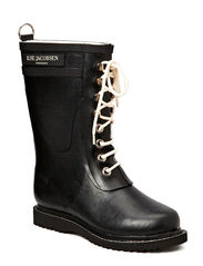 RAIN BOOT - MID CALF, CLASSIC WITH LACES - BLACK