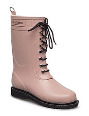 RAIN BOOT - MID CALF, CLASSIC WITH LACES - 378 ADOBE ROSE