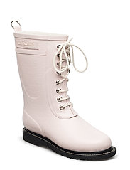 RAIN BOOT - MID CALF, CLASSIC WITH LACES - PEACH WHIP