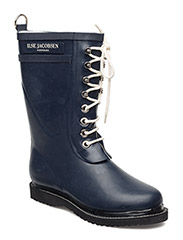RAIN BOOT - MID CALF, CLASSIC WITH LACES - DARK INDIGO