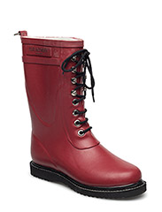 RAIN BOOT - MID CALF, CLASSIC WITH LACES - WINE