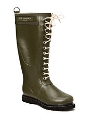 RAIN BOOT - LONG, CLASSIC WITH LACES - ARMY GREEN