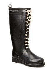 RAIN BOOT - LONG, CLASSIC WITH LACES - Black