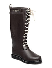 RAIN BOOT - LONG, CLASSIC WITH LACES - BROWN