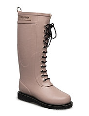 RAIN BOOT - LONG, CLASSIC WITH LACES - 378 ADOBE ROSE