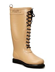 RAIN BOOT - LONG, CLASSIC WITH LACES - CAMEL