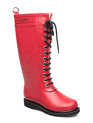 RAIN BOOT - LONG, CLASSIC WITH LACES - DEEP RED