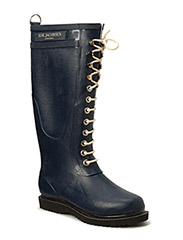 RAIN BOOT - LONG, CLASSIC WITH LACES - INDIGO
