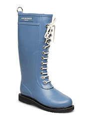 RAIN BOOT - LONG, CLASSIC WITH LACES - MOONSTONE