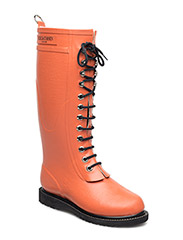 RAIN BOOT - LONG, CLASSIC WITH LACES - ORANGE