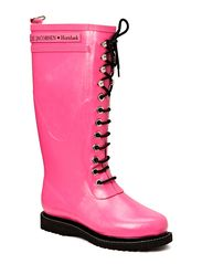 RAIN BOOT - LONG, CLASSIC WITH LACES - PINK