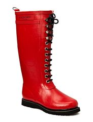 RAIN BOOT - LONG, CLASSIC WITH LACES - Red