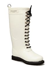 RAIN BOOT - LONG, CLASSIC WITH LACES - WHITE