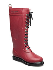 RAIN BOOT - LONG, CLASSIC WITH LACES - WINE