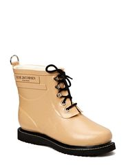 RAIN BOOT - ANKLE, CLASSIC WITH LACES - CAMEL