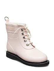 RAIN BOOT - ANKLE, CLASSIC WITH LACES - PEACH WHIP