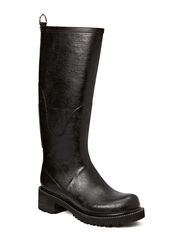 RAIN BOOT - LONG, HIGH HEEL - Black