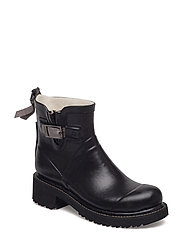 WOMEN RUB BOOTS SHORT - 001006 BLACK GREY